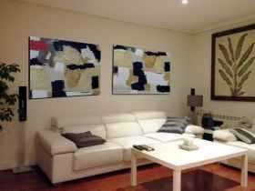 ver diptico pintura moderna en salón