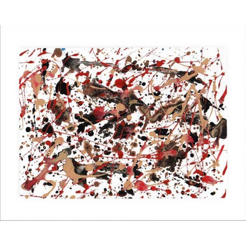 lámina para enmarcar cuadro abstracto moderno decorativo estilo Pollock