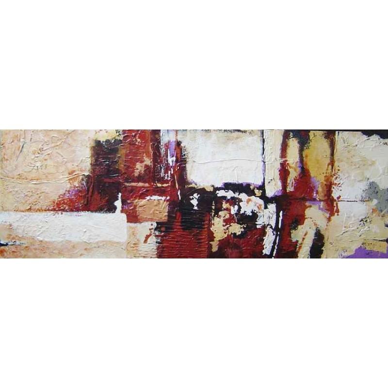 Cuadro abstracto decoración salón pintura moderna con textura pintado a mano