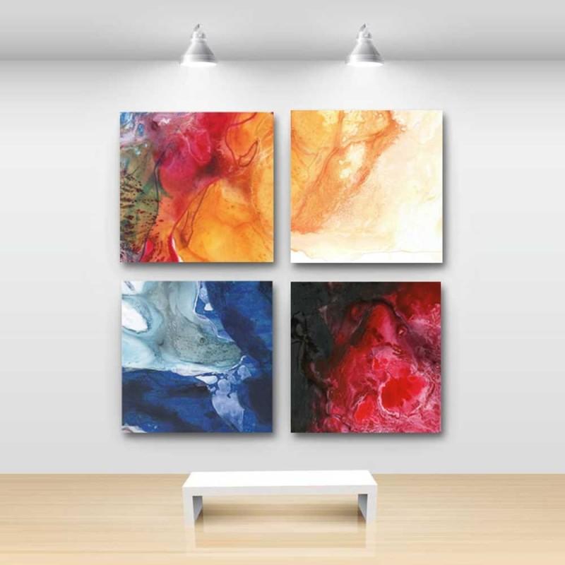 4 Cuadros abstractos lienzo cuadros modernos grandes  originales y exclusivos  Cuadros Blangar