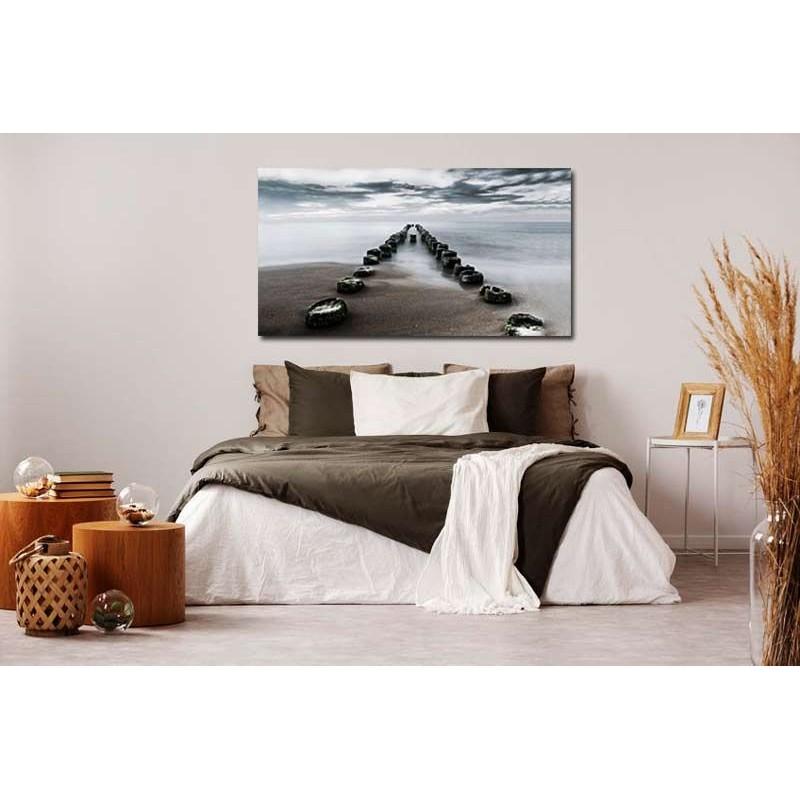 cuadros cabecero cama lienzo paisaje mar