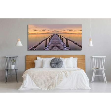 cuadro lienzo decoración dormitorio cabecero cama