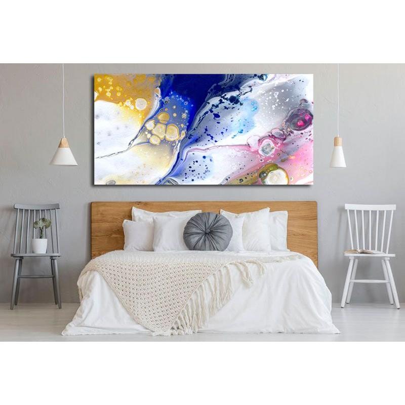 Cuadro abstracto moderno decoración dormitorio.