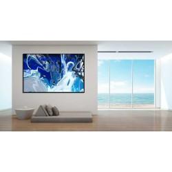 Cuadro cristal abstracto azul perfecto para decorar tu salón.