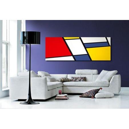 cuadro pintura abstracta moderna lienzo estilo mondrian decoración salón