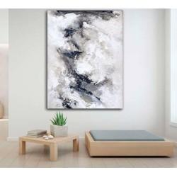 Imagina este Cuadro abstracto moderno Lienzo decorando el salón de tu casa.