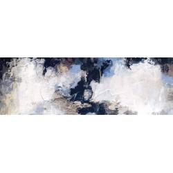 Cuadro abstracto grande horizontal alargado para decoración salón venta online