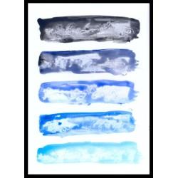 Cuadro abstracto franjas azules con marco , un diseño moderno y actual perfecto para decorar cualquier pared.