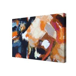 Cuadro abstracto pintado a mano pintura acrílica con texturas pintura moderna rectangular horizontal grande venta online