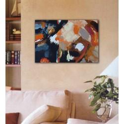 Cuadro abstracto moderno lienzo decoración salón casa hogar pintado a mano