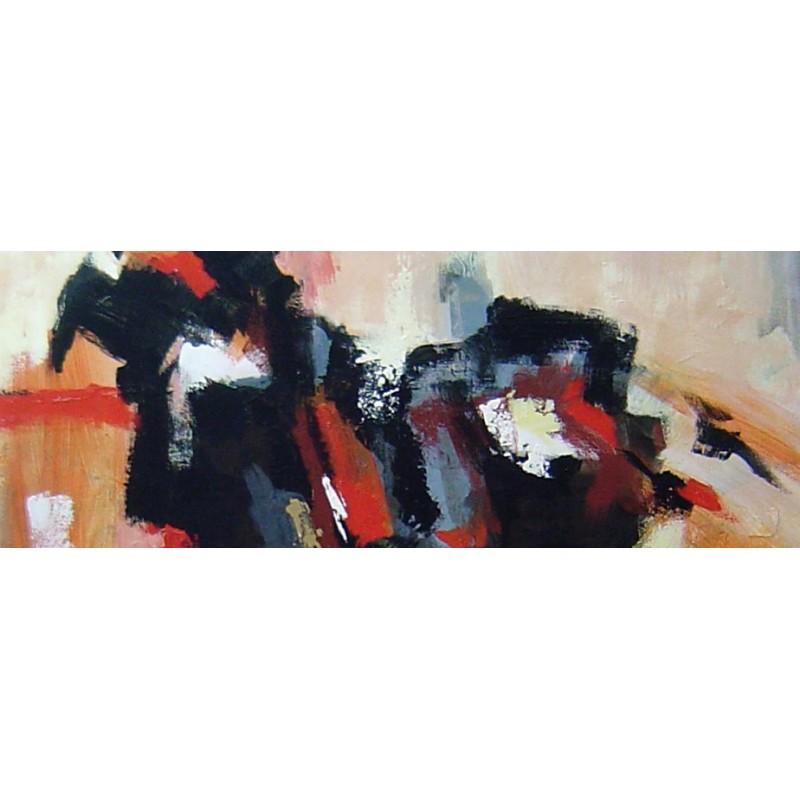 Cuadros gran formato cuadro abstracto moderno horizontal pintado a mano