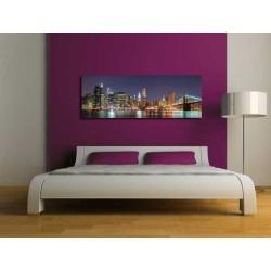 Cuadros para dormitorio. Cuadro gran formato lienzo new york noche decoración  cabecero dormitorio matrimonio