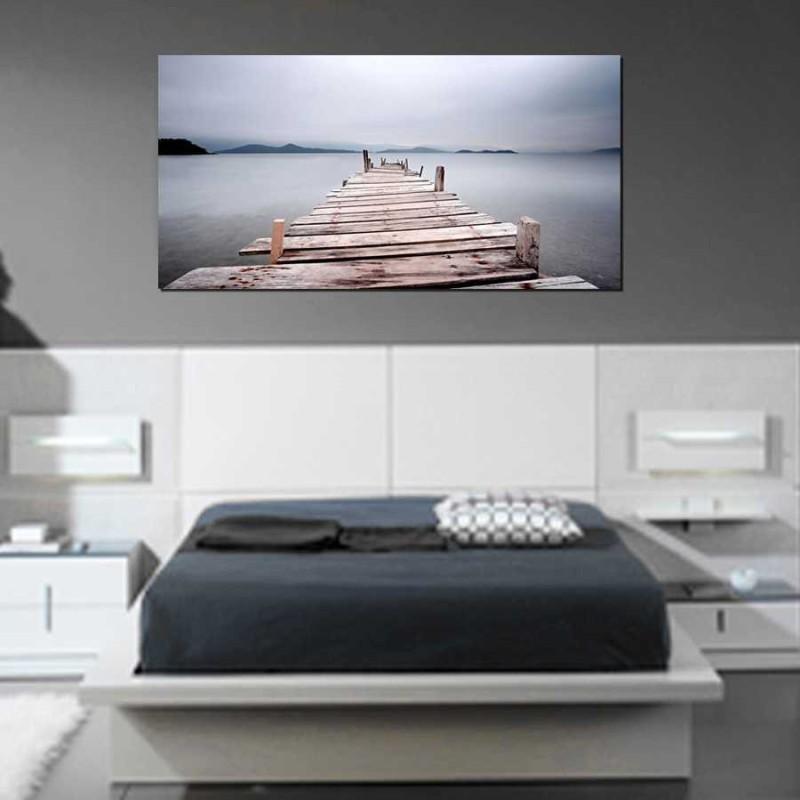 Cuadros para dormitorios. Cuadro grande foto lienzo impreso decoración dormitorios modernos, venta online.