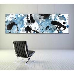 cuadros modernos azul pintura abstracta grandes lienzo decoración salón