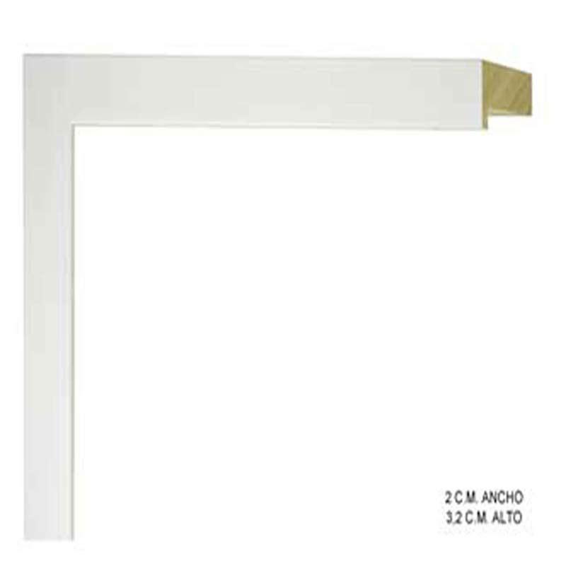 marco blanco cuadrado