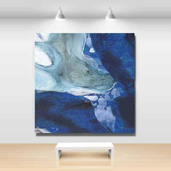cuadros abstractos cuadros modernos lienzo color azul