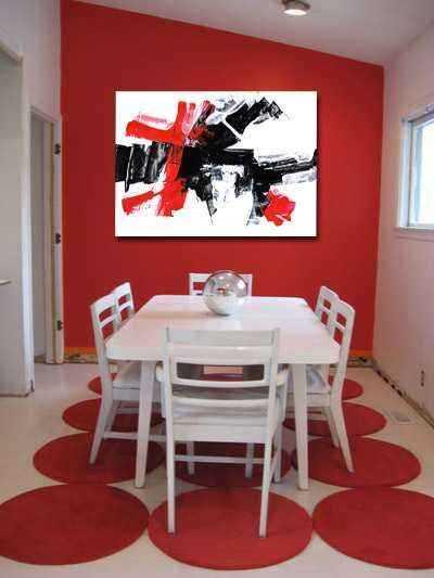 Cuadro abstracto moderno lienzo salón comedor