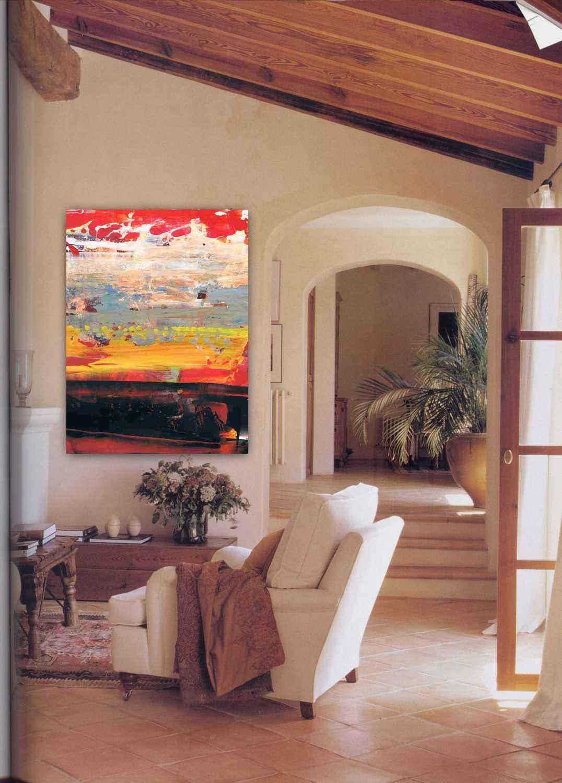 Comprar cuadros abstractos arte moderno salón comedor