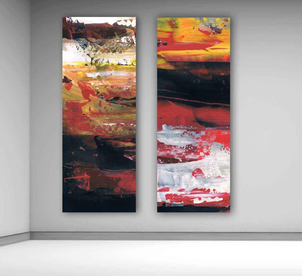 cuadros abstractos modernos verticales grandes